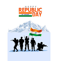 Happy republic day day india january 29 indian vector