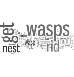 How to get rid of wasps vector
