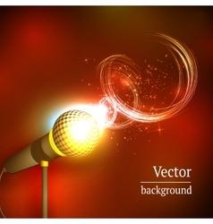 Karaoke microphone song concert vector