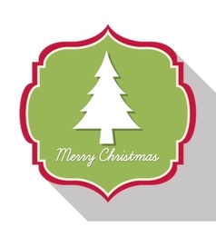 Label icon Merry Christmas design graphic vector image