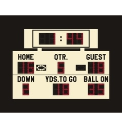 LED american football scoreboard with fully vector image