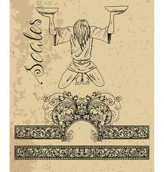 Libra zodiac sign vector
