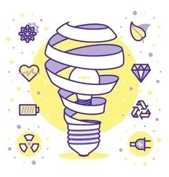 Lightbulbs icons vector