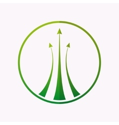 Logo design element Arrow target green vector