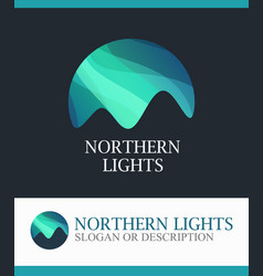 Logotype of aurora northern lights vector