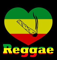 Love marijuana - reggae vector