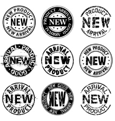 New product arrival good stamps vector