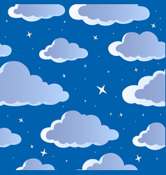 Night sky seamless background 1 vector