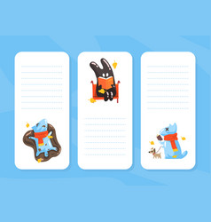 notebook page with cute funny monsters agenda vector image
