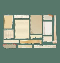 old paper scrapbook elements vector image