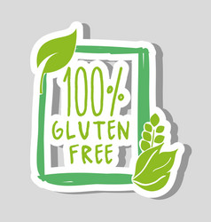 One hundred percent gluten free food vector