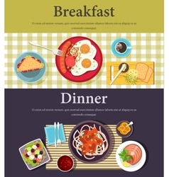picture of breakfast dinner at restaurant vector image