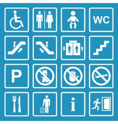 Public icons set vector image