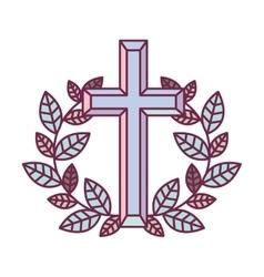 religious cross icon vector image