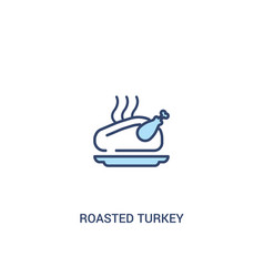 roasted turkey concept 2 colored icon simple line vector image