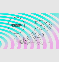 running man outline running man sport vector image
