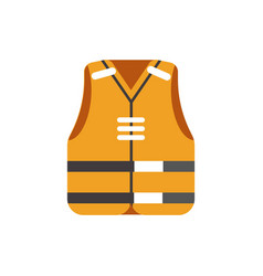 safety orange vest protective uniform isolated on vector image