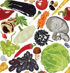 Seamless background autumn vegetables vector