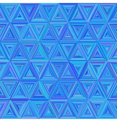 Seamless blue colorful Triangulate Pattern vector image