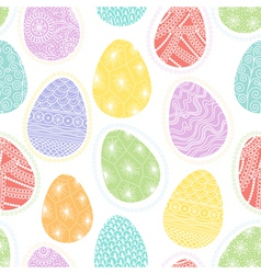 Seamless pattern with decorative Easter eggs vector