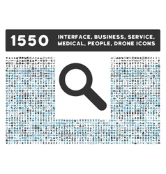 Search Icon and More Interface Business Tools vector image