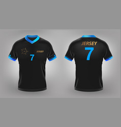 soccer jersey black sport t-shirt design vector image