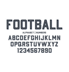 sport style font football style font with lines vector image