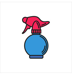 spray bottle simple icon on white background vector image