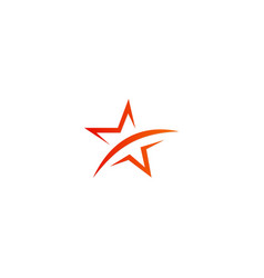 Star abstract logo vector