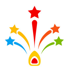 Star fireworks flat icon vector