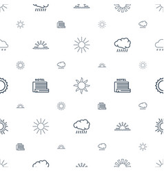 Sunrise icons pattern seamless white background vector