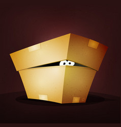 Surprise inside birthday cardboard box vector