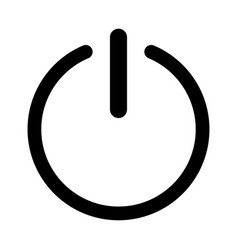 Symbol icon on or off icon vector