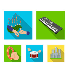 synthesizer melodies bagpipes scotch and other vector image