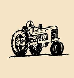 Vintage tractor design vector