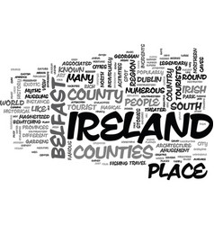 What do you need to know about ireland travel vector