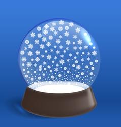 Winter snowfall ia winter ball vector image