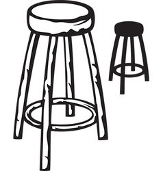 Wood stool vector image