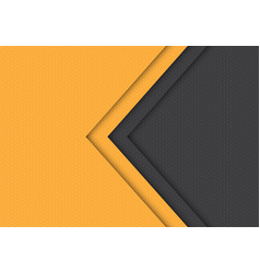 yellow grey arrow hexagon mesh pattern vector image