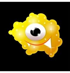 Cartoon bacteria fun character cute monster vector image vector image