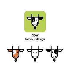 Cute cow icon vector image