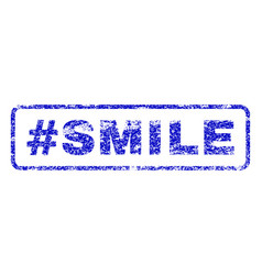 hashtag smile rubber stamp vector image vector image