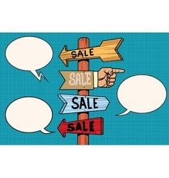 Pointers arrow sale signs navigation vector