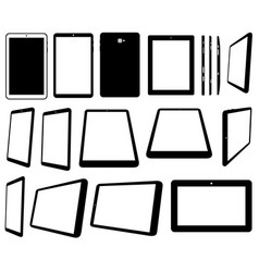 set of different tablets computer vector image vector image