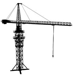 Tower crane vector image vector image