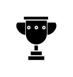 trophy cup simple icon black vector image vector image
