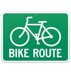 Bicycle Route Sign vector image vector image