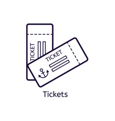 icon of tickets on a white background vector image vector image