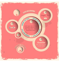 Pink web design bubbles in vintage style vector image vector image