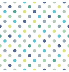 Seamless pastel pattern blue polka dots background vector image